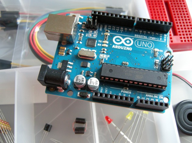 One of our Arduino kits available for you to use.