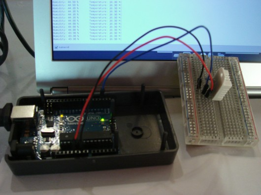 Home automation in development - here we have simple temperature and humidity logging.