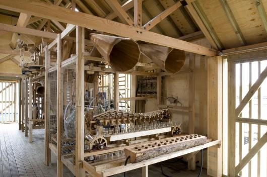 Inside '~Flow'.Owl Project's tide mill project.