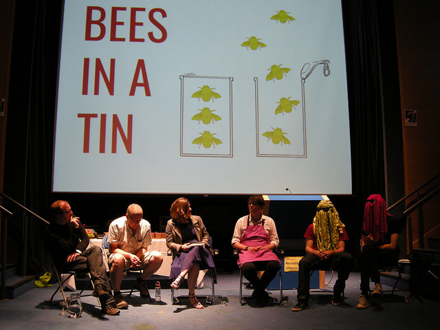 Afternoon panel session with Owl Project, Annette Mees, George Buckenham and Swoomptheeng. Photo: Nikki Pugh