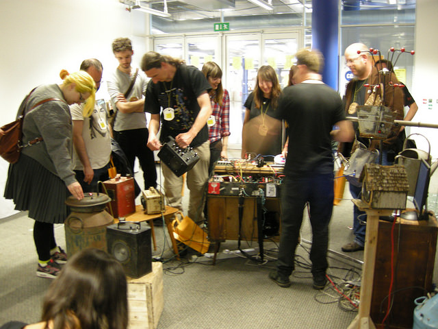 Farmer Glitch : Farm-Yard Debris, Carboot Treasures – Petrol Can Synths… Photo: Nikki Pugh